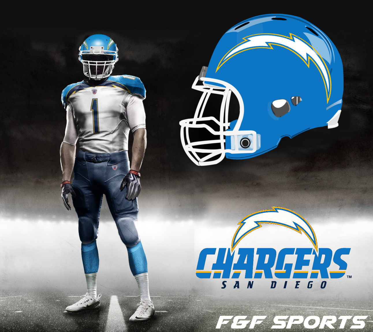 San Diego Chargers Football: F&F Sports