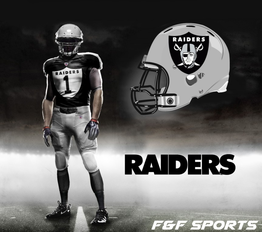 finest selection a6159 e1bc9 NFL Uniform Concept Day 2 – Oakland Raiders – F&F Sports