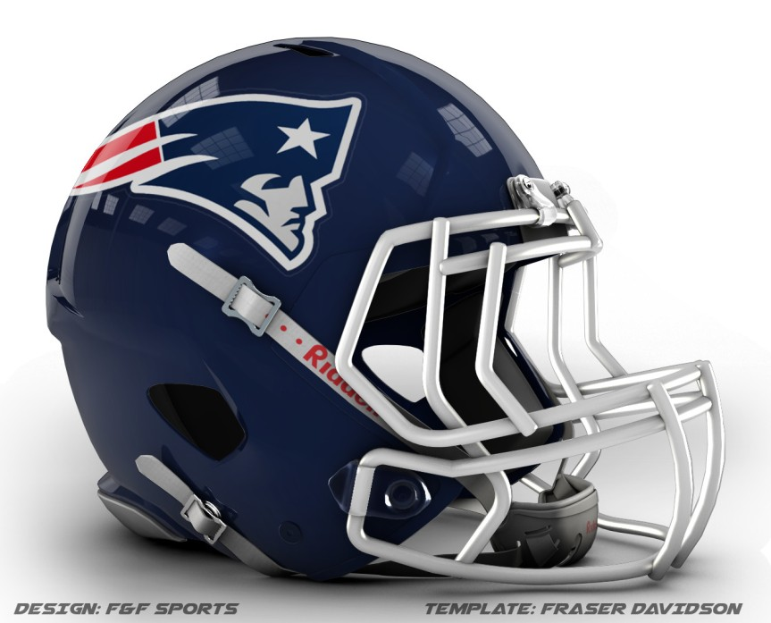 Patriots concept helmet 2 decal effect